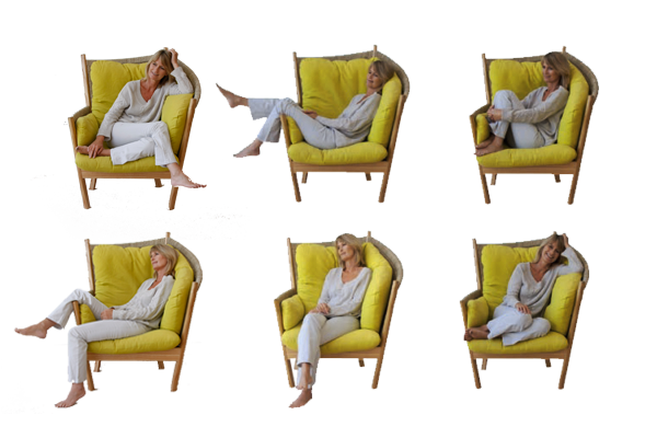 Semarang Conservatory Chair - Various comfy positions