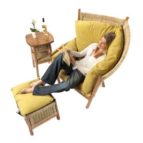 Semarang Conservatory Chair - Withe woman sitting