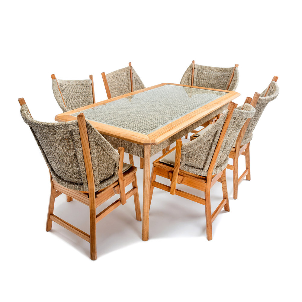Semerang Dining 6 seater carver
