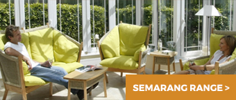 Semarang Range in a bright garden room conservatory with people relaxing