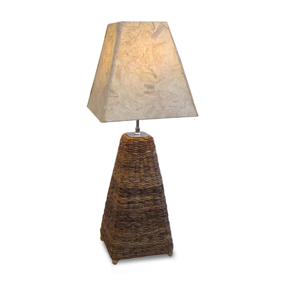 Small Table Lamp - Recycled Card Shade - Fair Trade Furniture